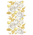 flower border realistic rose 3d vector image