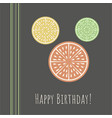 happy birthday greeting card organic concept vector image