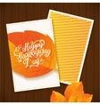 happy thanksgiving calligraphy greeting card vector image vector image