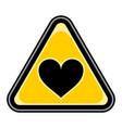 heart sign triangular sticker vector image vector image