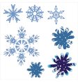 Icons of beautiful snowflakes vector image vector image