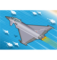 Isometric Eurofighter in Flight vector image