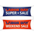 labor day super weekend sale banner vector image vector image