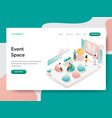 landing page template event space concept vector image