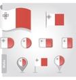Malta flag icon vector image vector image