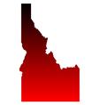 Map of Idaho vector image vector image