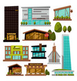 modern city buildings urban architecture vector image