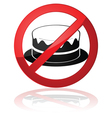 No cake allowed vector image vector image