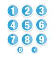 number set label vector image vector image