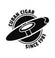 old cuban cigar logo simple style vector image vector image