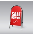 Pavement sign with the text sale now on