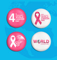 pin world cancer day february 4th background vector image