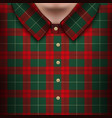 plaid shirt on man body vector image