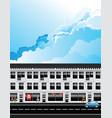 row fashion retail shops vector image vector image