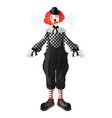 sad and crying clown realistic character vector image vector image