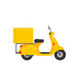 scooter courier vector image vector image