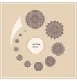 Set ethnic floral design elements logo in