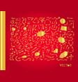 set of golden arrows vector image vector image