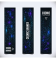 Set of three banners with abstract cosmic vector image