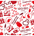 simple blood icons seamless pattern eps10 vector image vector image