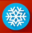 single snowflake icon flat snow icon flat style vector image