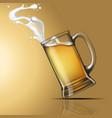 splashing beer in a glass vector image vector image