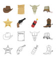 star sheriff colt dynamite cowboy boot wild vector image vector image