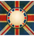 union jack background vector image vector image
