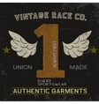 Vintage label with number one vector image vector image