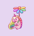 volume rainbow unicorn vector image