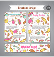 wake up slogan on brochure breakfast menu for vector image vector image