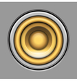 sound-system speaker icon over gray vector image