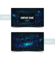 Business card front and back with abstract cosmic vector image