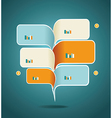 Modern business speech bubble template vector image
