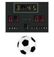Football scoreboard vector image