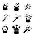 black magic icons set