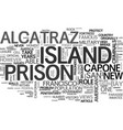 a prison in paradise text word cloud concept vector image vector image