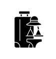 all girl travel black glyph icon vector image