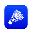 badminton icon blue vector image vector image