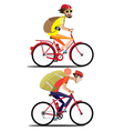 Bicyclist set vector image vector image