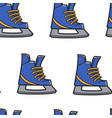 canadian symbol figure skating or hockey shoe vector image vector image