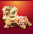 chinese lion cartoon vector image vector image