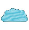 cloud storage data service icon in color crayon vector image