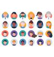collection multi ethnic people avatars