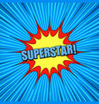 comic blue explosive super background vector image vector image