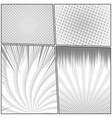 comic monochrome design template vector image vector image