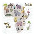 cute africa set vector image