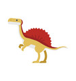 cute cartoon ankylosaurus dinosaur prehistoric vector image vector image