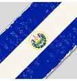 El Salvador grunge flag vector image vector image