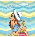 Enjoy Summer poster design vector image